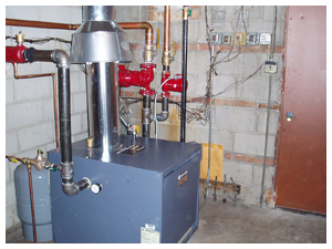 Installation of new high efficiency boiler system for multi-unit apartment complex