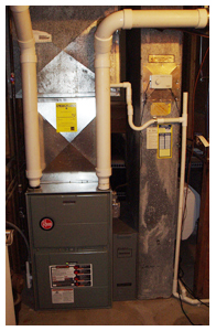 New Residential high efficiency furnace installation